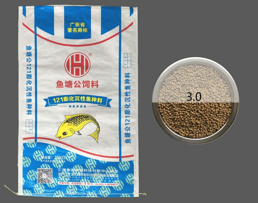 鱼塘公121膨化沉性鱼种料