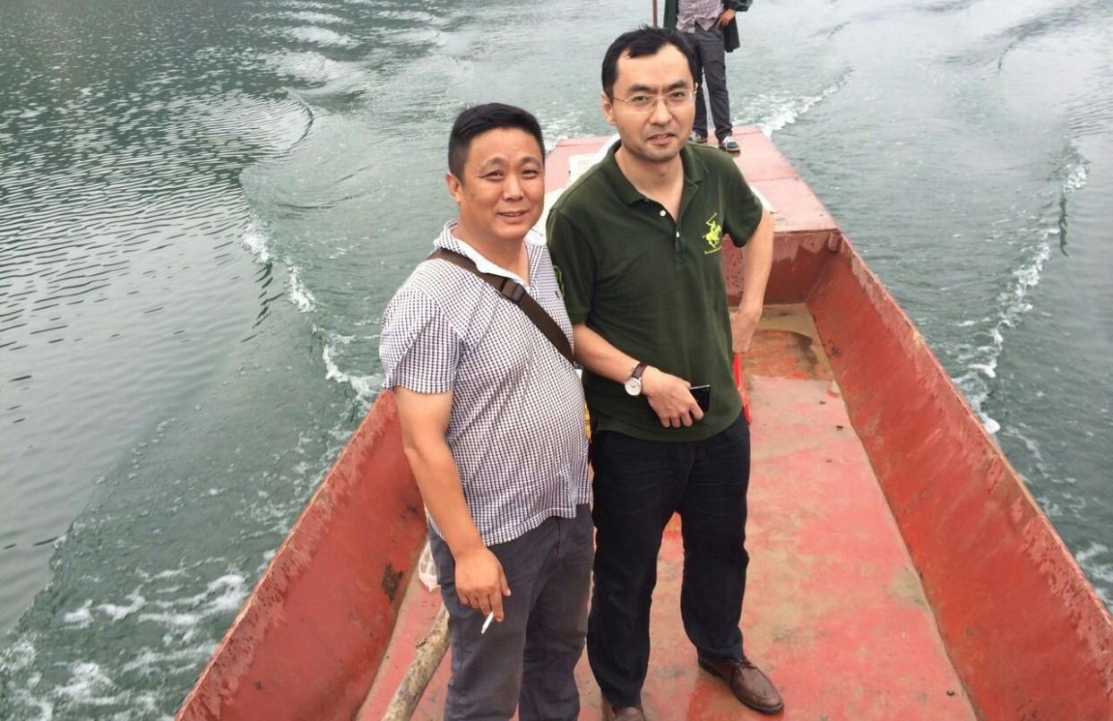 集团技术总监于旭华博士湖北竹溪鮰鱼养殖基地考察纪实