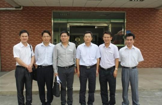 阳江高新区领导到江门乐虎国际维一官网参观考察